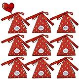 JYCRA cajas de regalo, juego de 30 cajas decorativas para dulces, pasteles, galletas, dulces, cajas de regalo para Navidad, cumpleaños, vacaciones, bodas. 8x8x9CM Xmas Tree