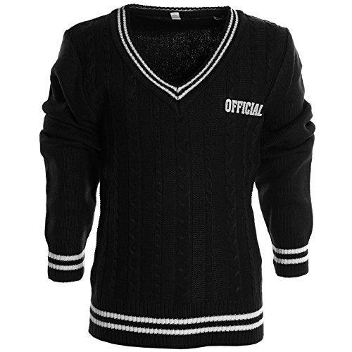 BEZLIT - Maglia - Camicia - Basic - Collo a U  - Maniche lunghe  -  ragazzo nero 12 anni