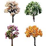 BESTIM INCUK 4-Pack Miniature Fairy Garden Ornament Trees DIY Dollhouse Plant Pot Home Decoration - BESTIM INCUK - amazon.co.uk