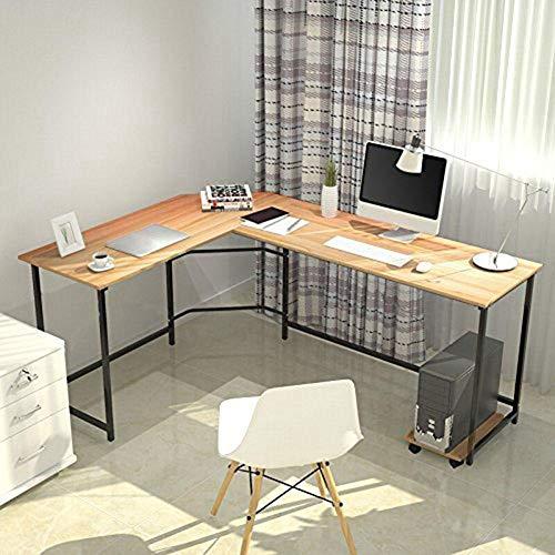 EBTOOLS Eckschreibtisch, L-Form Computertisch Gaming Tisch Winkelschreibtisch Schreibtisch Bürotisch Ecktisch Büroschreibtisch Arbeitstisch für Home Office und Büro, Platzsparend, 125 x 168 x 74 cm