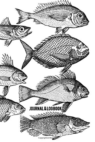 Vintage Fisherman's Fishing Notebook Gift: 120 Lined Pages 6x19 Great for Field Journaling, Writing, Drawing, Doodling/Sketching and Note Taking (Fisherman's Journals, Band 1) ()