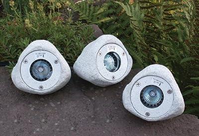 Heitronic Beleuchtete Steine 3er Set granit von HEITRONIC bei Lampenhans.de