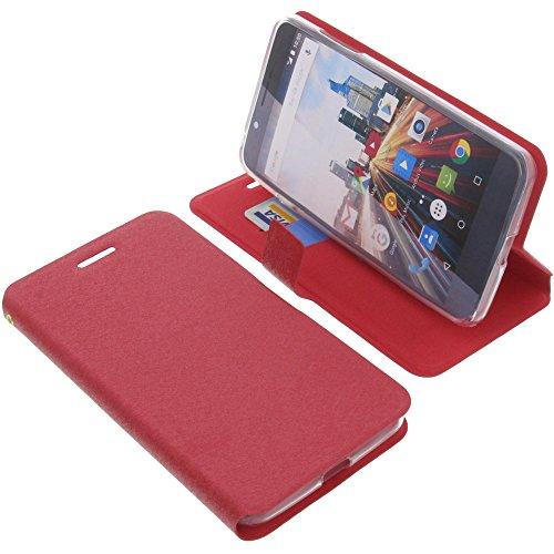 foto-kontor Tasche für Archos 55 Helium Ultra Book Style rot Schutz Hülle Buch