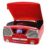 PRIXTON VC500 - Tocadiscos convertidor y CD Rojo