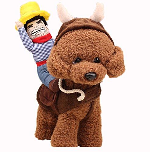 dingang® Pet Hund Halloween Cowboy Funny Kostüm Hund Riders (Kostüm Uk Cowboy Hund)