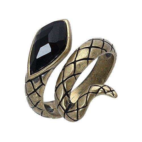 TOOGOO (R) Anillo de la aleacion de bronce con Serpiente para Hombres