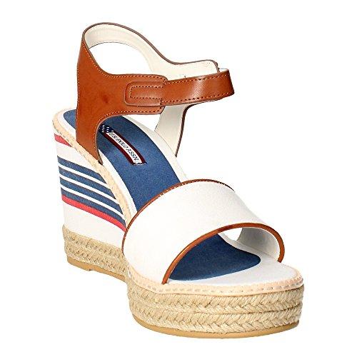 Polo Assn Bianco DORAS4061S6 YC1 Sandalo Donna s U 6xwO55