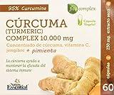 Cúrcuma complex 10.000 mg 60 cápsulas vegetales con vitamina C, jengibre y pimienta negra