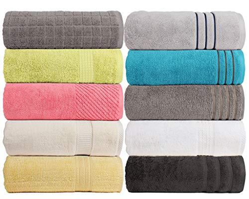 CASA COPENHAGEN Edition 2019, Exotic 575 g/m² Lot de 4 draps de Bain 100% Coton peigné 71,1 x...