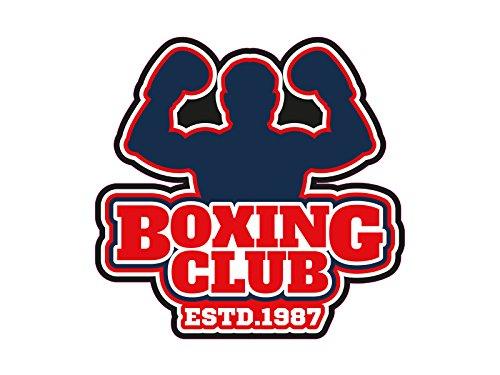 1 x Aufkleber Boxing Sticker Box Club Estd 1987 Oldschool WBC Sport Boxen NEU (Club-aufkleber)
