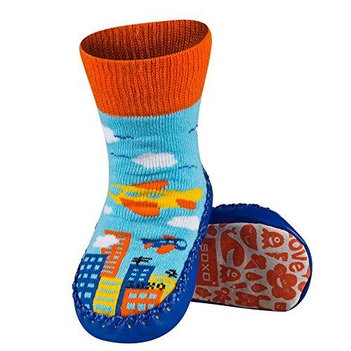 Sevira Kids Baby Jungen (0-24 Monate) Socken mehrfarbig Garçon 2-B 0-24 Monate, 13 cm (Bebe Leder)