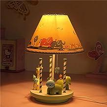 Tabla de la manera lámpara-WXP Los estudiantes de la lámpara de lectura de los niños dormitorio Mesita de luz de la lámpara de la lámpara de la historieta creativa del caballo cálido y encantador dones pastorales lámpara de escritorio Lámpara de cabecera-WXP