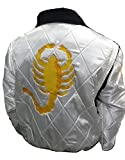 Bestzo Men's Fashion Ryan Gosling Famous Drive Scorpion Jacket Quilted Satin Fabric 3XL