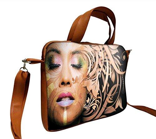 snoogg-bella-donna-faccia-artistico-design-432-cm-pollici-a-445-cm-pollici-a-447-cm-in-ecopelle-di-n