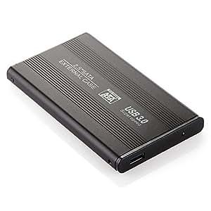 """MEMTEQ 2.5"""" USB 3.0 Boîtier Externe Housse Box Protection Case 125 x 75 x 14 mm pour SATA HDD Disque Dur Hard Drive Disk NOIR"""