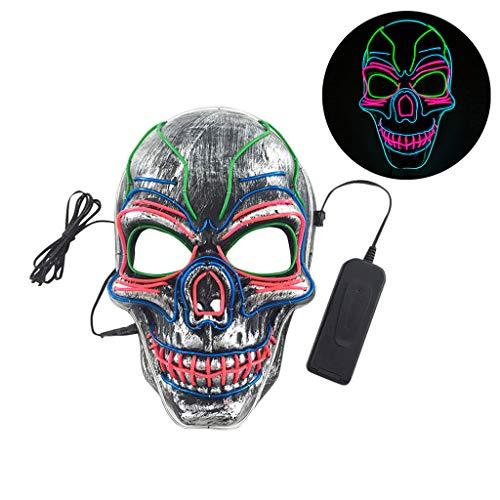 Kostüm Batman Light Up - Dkings Halloween Maske LED Leuchten Maske, Cosplay Kostüm Maske für Erwachsene Party Dekoration Requisiten