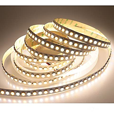 LTRGBW 5050 SMD Supper Bright 2800K-7000K 24V 600LEDs Bi-colored Dual White CW WW Color Temperature Flexible Non-waterproof LED Strips 5M