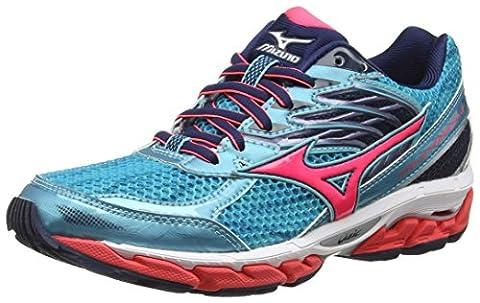 Mizuno Women's Wave Paradox 3 Running Shoes, Turquoise (Capri/Diva Pink/Dress Blues Viscotech), 5.5 UK 38 1/2 EU
