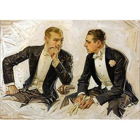 Stampa su legno 40 x 30 cm: Noble gentlemen in