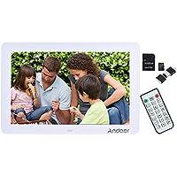 """Andoer 12 """"Largo Schermo HD LED Cornice Digitale Alta Risoluzione 1280 * 800 con Telecomando Orologio LED Calendario MP3 MP4 Movie Player+ 32GB SD Card+Lettore di Schede"""