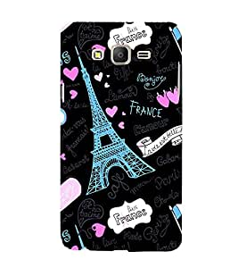 Fabcase Paris lovers Designer Back Case Cover for Samsung Galaxy On7 G600Fy :: Samsung Galaxy Wide G600S :: Samsung Galaxy On 7 (2015)
