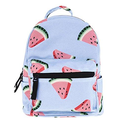 Everpert Summer Mini Backpacks Women Kids 3D Watermelon Printed Shoulder Schoolbags