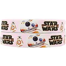 Cinta decorativa, tamaño 2m x 22mm, grogrén, diseño de Star Wars Sphero BB-8
