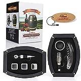 Yobansa Vin Tire-bouchon Opener Set, accessoires du vin Coffret cadeau Vin Saver Bouchon Ensemble Barrel 0b