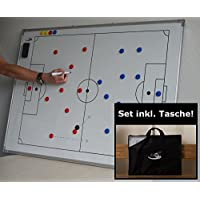 pro11 - Fußball-Taktikboard, 90 x 120cm mit Tasche, Stift und Magnete   Taktiktafel Fußball