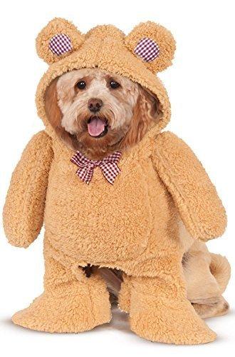 Walking Teddybär Hund Kostüm abgedeckt Tier Katze Haustier XS SM MD LG XL - Braun, Large (Katze Teddy Bär Kostüm)