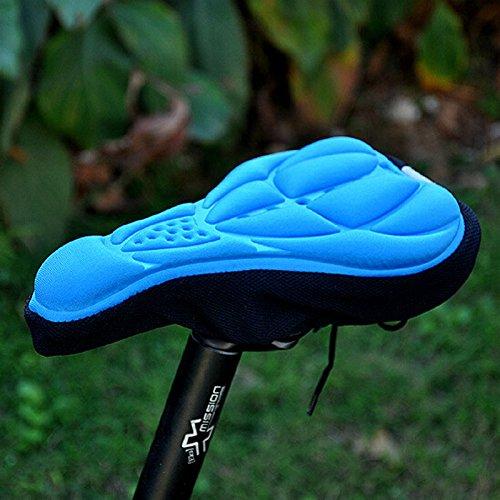 EQLEF® Fahrrad-Sattel von Fahrradteile Fahrrad Sitzmatte bequemes Kissen weiche Sitzabdeckung für Fahrrad-Sitzkissen