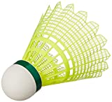 #7: Yonex Mavis 2000 Green Cap Nylon Shuttlecock, Pack of 6