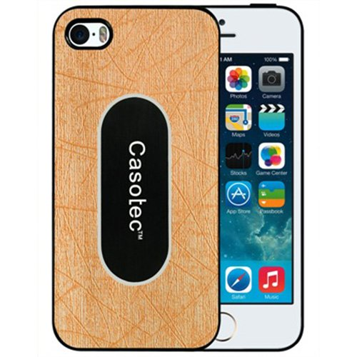 Casotec Metal Back TPU Back Case Cover for Apple iPhone 5 / 5S - Gold  available at amazon for Rs.175