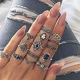 cheap4uk 15pcs Midi Ringe für Damen Fingerring Set Nagel Finger Band Silber