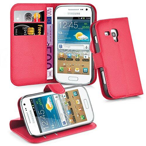 Cadorabo Hülle für Samsung Galaxy Trend Plus in Karmin Rot