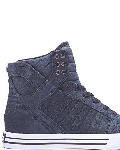 Supra Skytop, Baskets Homme - Bleu (slate Blue - White  Slt), 46 EU Black / white - white