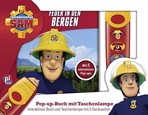 feuerwehrmann sam brettspiel Feuerwehrmann Sam - Feuer in den Bergen - Pop-up-Buch mit Taschenlampe - 5 Geräusche