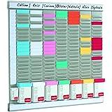 Nobo - Kit Office Planner 8 colonnes 24 fentes, inclus 700 fiches T2, 100 fiches T1, 2 supports en aluminium