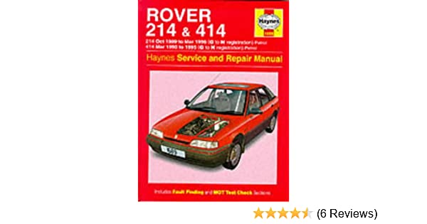 rover 214 and 414 89 96 service and repair manual haynes service rh amazon  co uk rover 25
