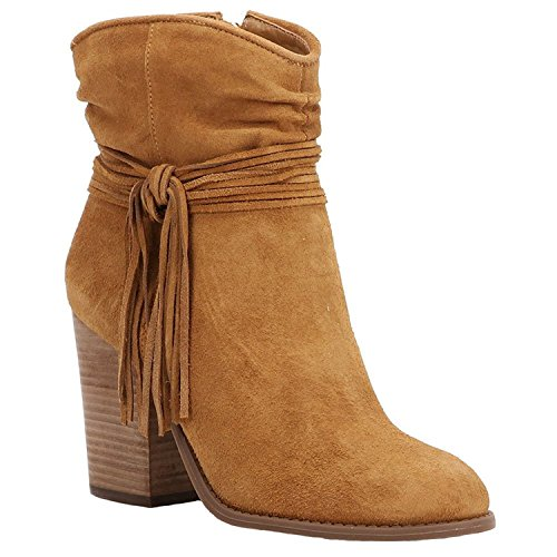 Jessica Simpson New Sesley Honey Brown Suede 9.5 Zapatos para mujer