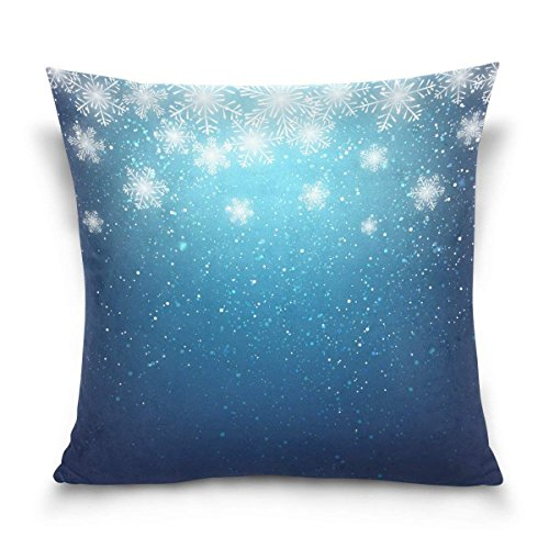 pants hats Snowflake Christmas Square Throw Pillow Case Cotton Velvet Cushion Cover 18