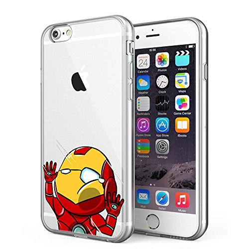 Blitz® POWER RANGER motifs housse de protection transparent TPE iPhone Captain America M8 iPhone 6sPLUS Iron Man M10