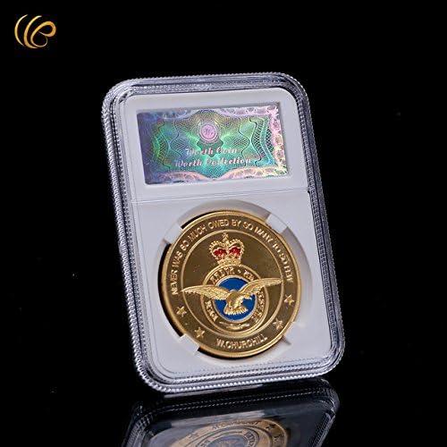 Nouveau à partir partir partir de Importé Hot vente American pièce de monnaie en métal plaqué or 24 K pièce de monnaie de bonne qualité Nouvel An cadeaux USA armée pièce de monnaie avec code de sécur 2ca152