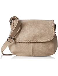 s.Oliver (Bags) CITY BAG 39.608.94.7750 Damen Umhängetaschen 35x22x9 cm (B x H x T), Beige (feather 8251)