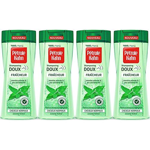 Petrole Hahn shampoing suave Fraîcheur au PH neutro sin silicona/paraben rafraîchit el cuero cabelludo menta-Juego de 4