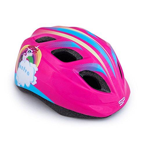 Spokey Kinder-Fahrradhelm Einhorn größenverstellbar 48-52 cm Schutzhelm für Kinder
