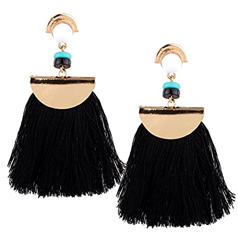 Boucles d'oreilles Femmes Mode Mode Rétro alliage Gemstone Plein d'oreilles diamant , black