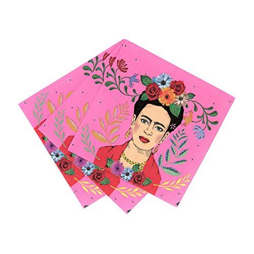 Talking Tables BOHO-CNAPKIN Kahlo Party Zubehör Blumenmotiv | Frida Servietten | 12 Stück, Multifarbe -