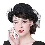 Donna Ragazze Moda Mantiglia Per La Cerimonia Cappello A Cilindro Nero