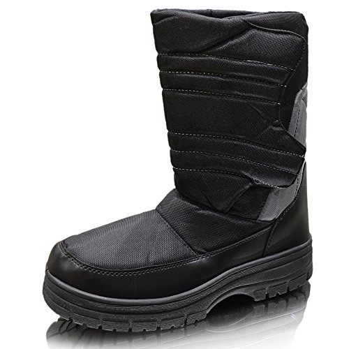 Xelay - Wellingtons da lavoro uomo Black New